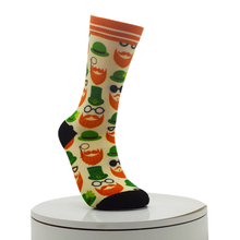 Moustache Pattern Digital Printed Socks